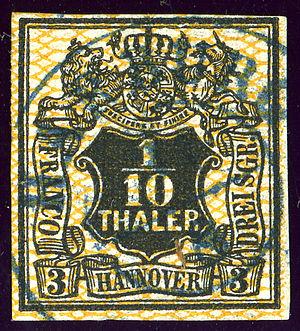 Harburg (quarter) - Postmark HARBURG in the Kingdom of Hanover, 1856