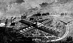 International Cotton Exposition - Contemporary rendering of the 1881 Exposition