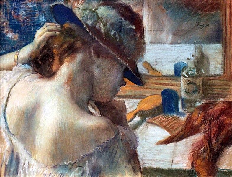 Edgar Degas: Frente al espejo (1899).