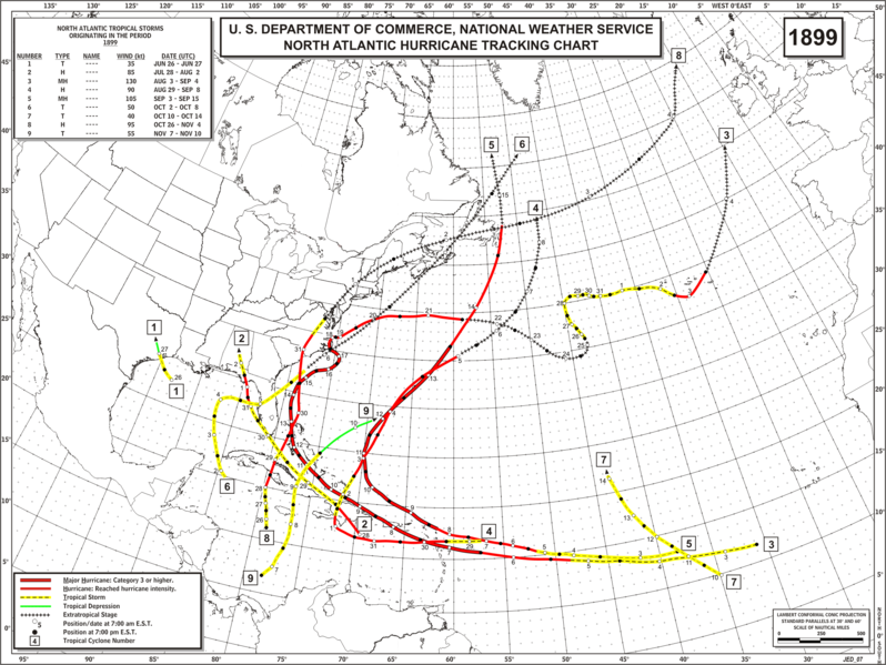 File:1899 Atlantic hurricane season map.png