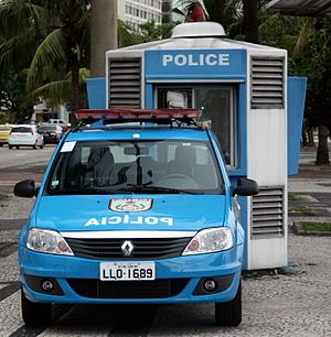Military Police of Rio de Janeiro State - Renault Logan in police of Rio de Janeiro.