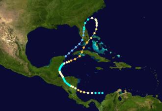 1906 Florida Keys hurricane - Image: 1906 Atlantic hurricane 8 track
