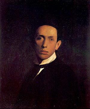 Josip Račić - Autoportret (Self-portrait) by Josip Račić, (1908) Oil on canvas. 65.1×53.1 cm, Modern Gallery, Zagreb