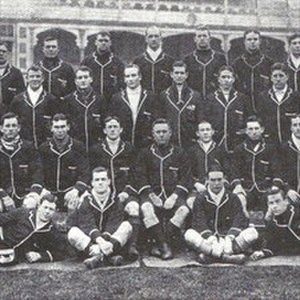 Herbert Moran -  Detail from squad photo, Moran (2nd row, three from right).