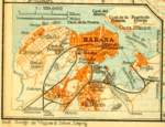 1909 Habana districts map by Baedeker.png
