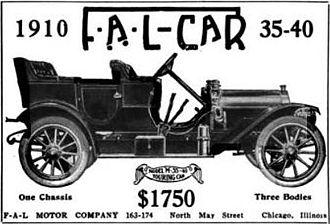 Fal-Car - 1910 FAL-Car Advertisement