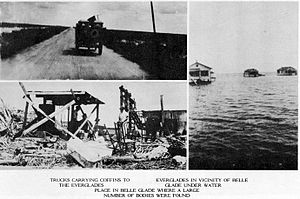 1928 Okeechobee hurricane - Aftermath of the hurricane in southern Florida