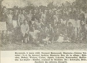 FC Ripensia Timișoara - Ripensia-Unirea Tricolor 3–1 in 1932