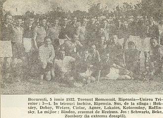 FC Ripensia Timișoara - Ripensia-Unirea Tricolor 3–1 in 1932