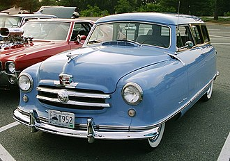 Fender skirts - 1952 Nash Rambler non-detachable front and rear fender skirts