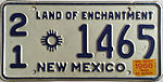 1968 New Mexico license plate.JPG