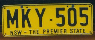 Vehicle registration plates of New South Wales - NSW – The Premier State