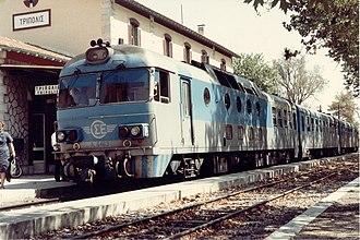 Ganz Works - Metre gauge Ganz-Mávag trainset of Hellenic Railways Organisation (OSE) at Tripoli, Greece
