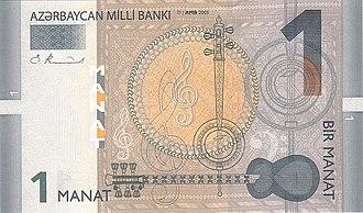 Azerbaijani manat - Image: 1 manat obv