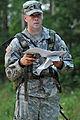 1st Lt. Andrew DAmelio on the land navigation course (7646764706).jpg