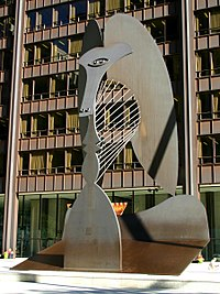 Escultura no Daley Plaza (Chicago, EUA)