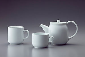 Affordance - The handles on a tea set provide an obvious affordance for holding.