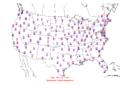 2005-12-01 Max-min Temperature Map NOAA.png