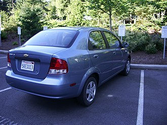 Chevrolet Aveo - Chevrolet Aveo sedan (US)