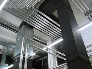 Piping of a boiler-room
