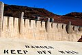 2006-08-17 - Road Trip - Day 25 - United States - Nevada - Hoover Dam - Danger Keep off Wall 4888894579.jpg