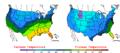 2007-03-02 Color Max-min Temperature Map NOAA.png