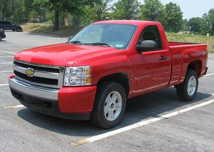2007 Chevrolet Silverado photographed in USA.