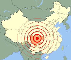 2008 Sichuan earthquake map no labels.svg