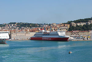 """Superfast V"" of Superfast Ferries i..."