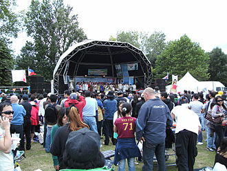 Filipinos in the United Kingdom - The stage at Barrio Fiesta sa London 2009.
