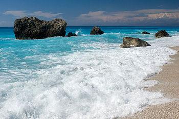English: Kalamitsi beach, Lefkada island, Ioni...