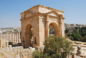 Tetrapylon - The North Tetrapylon at Jerash in Jordan