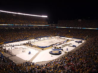 2011 NHL Winter Classic - The threat of rain pushed the start time from 1:00 pm to 8:00 pm ET.