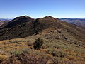 2014-10-03 15 05 34 View south along the main ridge of the Diamond Mountains while heading south from Diamond Peak, Nevada.JPG