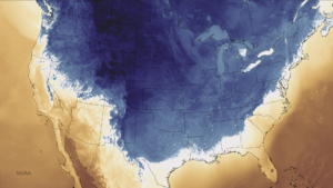 2014–15 North American winter - A temperature map of the frigid conditions in North America on November 13, 2014