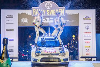 2014 Rally Sweden - Jari-Matti Latvala during Podium
