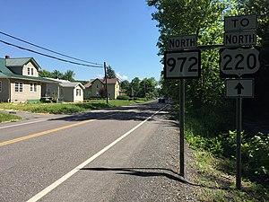 New Creek, West Virginia - West Virginia Route 972 in New Creek