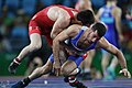 2016 Summer Olympics, Greco-Roman Wrestling 72 kg - Shmagi Bolkvadze v Omid Norouzi.jpg