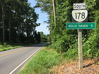 Virginia State Route 178 - View south along SR 178 in Boston