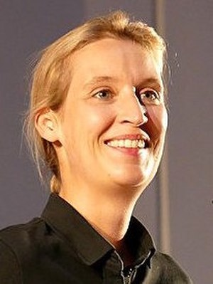 German federal election, 2017 - Image: 2017.07.22.200910 Alice Weidel Af D Informationsveransta ltung Schriesheim (cropped)