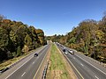 2018-10-30 11 51 27 View north along Virginia State Route 286 (Fairfax County Parkway) from the overpass for Virginia State Route 6500 (Clara Barton Drive) in Fairfax Station, Fairfax County, Virginia.jpg
