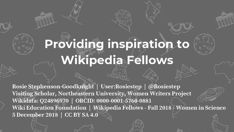 File:2018 WikiEdu - Providing inspiration to Wikipedia Fellows - Fall 2018 - Women in Science.pdf