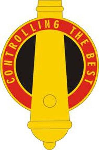 210th Field Artillery Brigade - Image: 210th FA Gp crest official