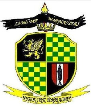 95th Military Police Battalion - Image: 230th Military Police Company logo