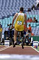 231000 - Athletics field pentathlon Wayne Bell long jump action 2 - 3b - 2000 Sydney event photo.jpg