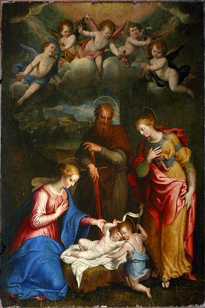 File:2369 - Milano - Sant'Antonio Abate - B. Campi e C. Procaccini, Madonna e santi - 1565 - Foto Giovanni Dall'Orto 20-May-2007.jpg