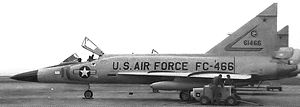 331st Fighter-Interceptor Squadron - Convair F-102A-80-CO Delta Dagger 56-1466, 1962