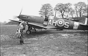 No. 332 Squadron RAF - 332 Squadron Spitfire AH-S/L1031 at RAF Catterick