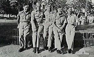 Ismailia Air Base - Image: 458 Squadron RAAF personnel Egypt 1942 AWM SUK10649