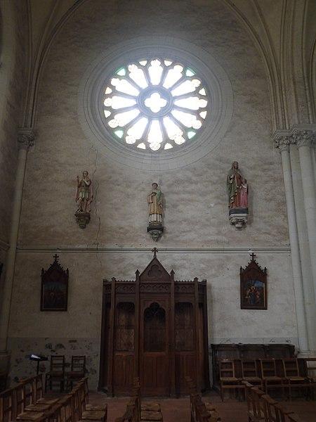La transept gauche.
